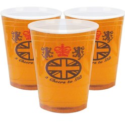 Great Britain Plastic Half Pint Glasses