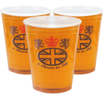 Half Pint Plastic Glasses