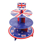 Union Jack Cup Cake Stand - 3 Tier