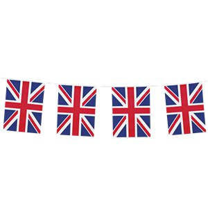 Union Jack Flag Fabric Bunting - 25m