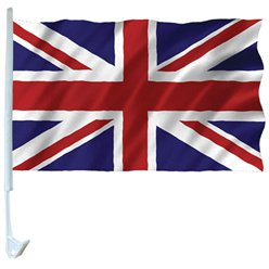 Union Jack Car Flags - 42cm