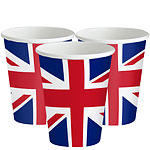 Union Jack Paper Cups - 266ml