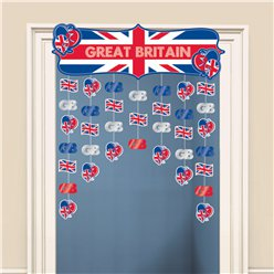 Great Britain Door Curtain - 1.2m