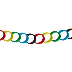 Multi-coloured Paper Chain - 7m