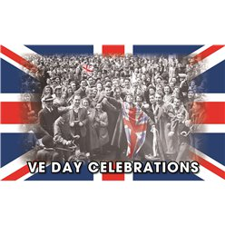 VE Day Flag - 5ft x 3ft