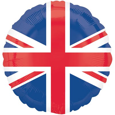 "Union Jack Design Round Balloon - 18"" Foil"