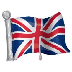 "Great Britain Union Jack Supershape Flag Balloon - 27"" Foil - Royal Wedding Street Party Supplies & Decorations"