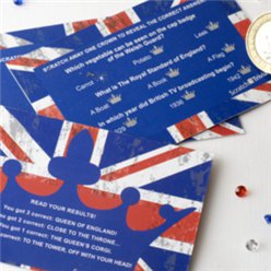 Union Jack Scratch Trivia - 10 Cards