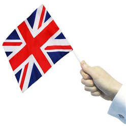 Union Jack Hand Waving Flags - 22cm