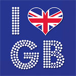 Union Jack 'I Love GB' Paper Napkins - 33cm