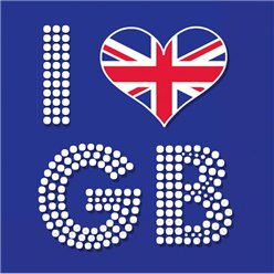 Union Jack 'I Love GB' Napkins 3ply