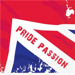 Great Britain 'Pride Passion' Paper Napkins - 33cm