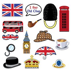 British Photo Booth Props