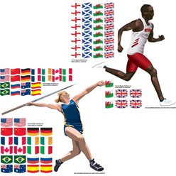 Athlete and Flag Add-Ons