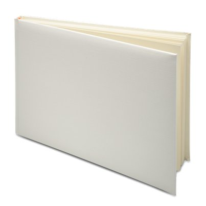 Ivory Silk Guest Book - 24.5cm