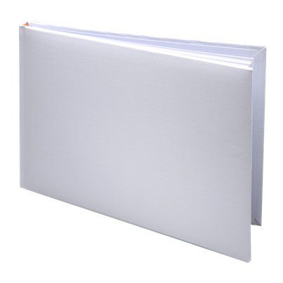 White Silk Guest Book - 24.5cm