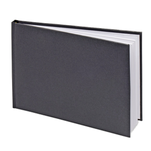 Black Silk Guest Book - 24.5cm