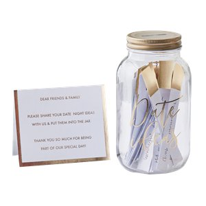 Gold Wedding Date Night Ideas Jar