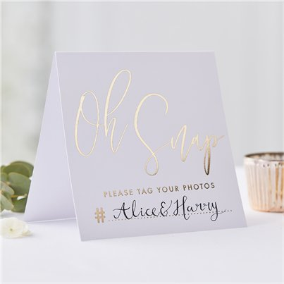 Gold Wedding Instagram Signs