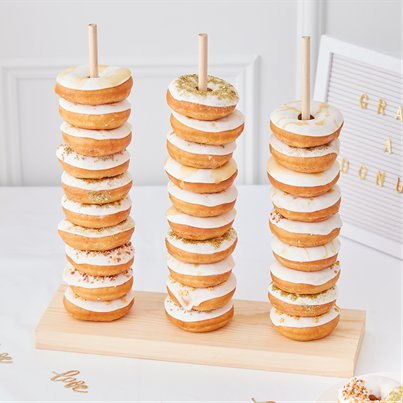 Gold Wedding Doughnut Stacker