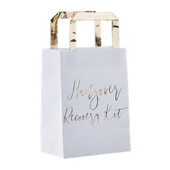Gold Wedding Hangover Recovery Kit Bags