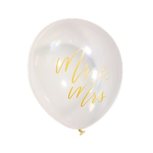 Gold Wedding Mr & Mrs Balloons - 12