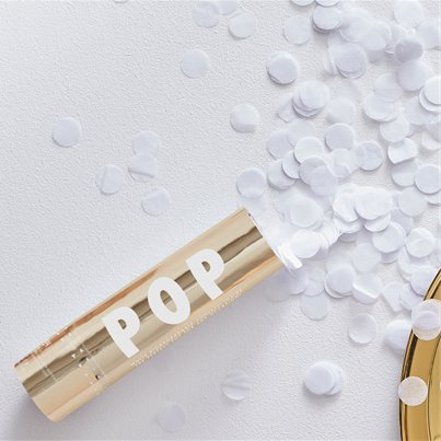 Gold Wedding Biodegradable Confetti Cannon - 15cm