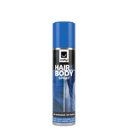 Blue UV Hair & Body Spray  - Hair Colour Spray - 75ml front