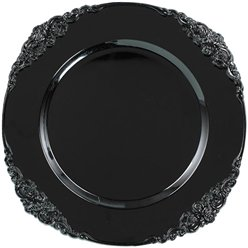 Black Scroll Charger - 33cm