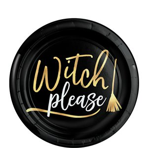 Witch Please Plastic Plate (19cm)