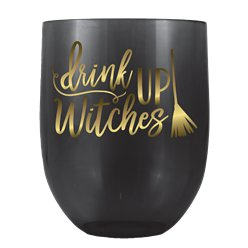 'Drink Up Witches' Stemless Wine Glass (487ml)
