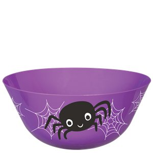 Plastic Spider Candy Bowl - 28.5cm