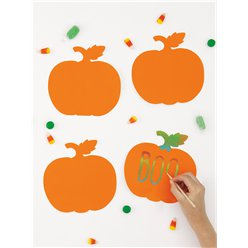 Pumpkin Scratch Art Cutouts