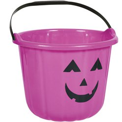 Purple Pumpkin Bucket - 22cm
