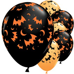 Flying Bats & Moons Balloons - 11