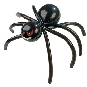 Black Spider Balloon & Pump - Latex