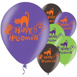 Happy Halloween Balloons - 11'' Latex