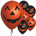 "Pumpkin Balloons - 11"" Latex"