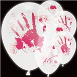 "Bloody Handprint Light Up Balloons (11"" Latex)"