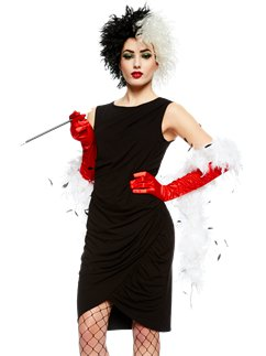 Cruella Accessory Kit - Wig, Gloves & Cigarette Holder