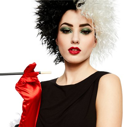 Cruella Deville Costume Accessory Kit - Women's Halloween Fancy Dress Costume Accessories left