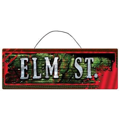 Nightmare on Elm St Wooden Sign