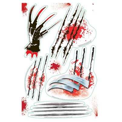 Nightmare on Elm St Wall Slash Stickers