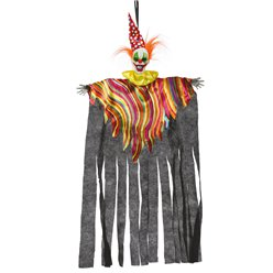 Colourful Hanging Clown - 75cm