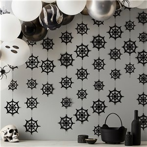 Foil Spiderweb Backdrop