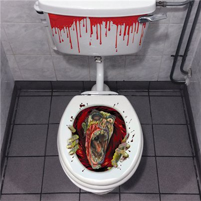 Zombie Head Toilet Decoration - 60cm