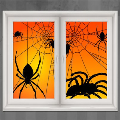 Spider Window Decorations - 1.65m