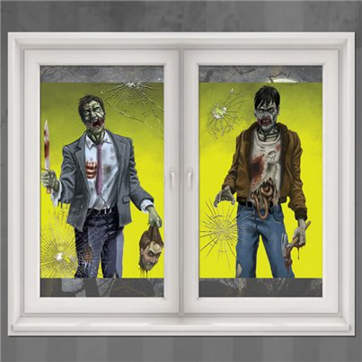 Zombie Window Decorations - 1.65m