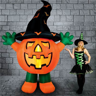 Light Up Inflatable Giant Pumpkin - 3m