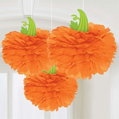Pumpkin Pom Pom Decorations - 40cm